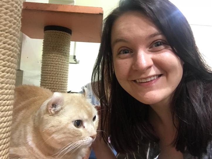 Cat Cafe!!! This was the weirdest / cutest friend.