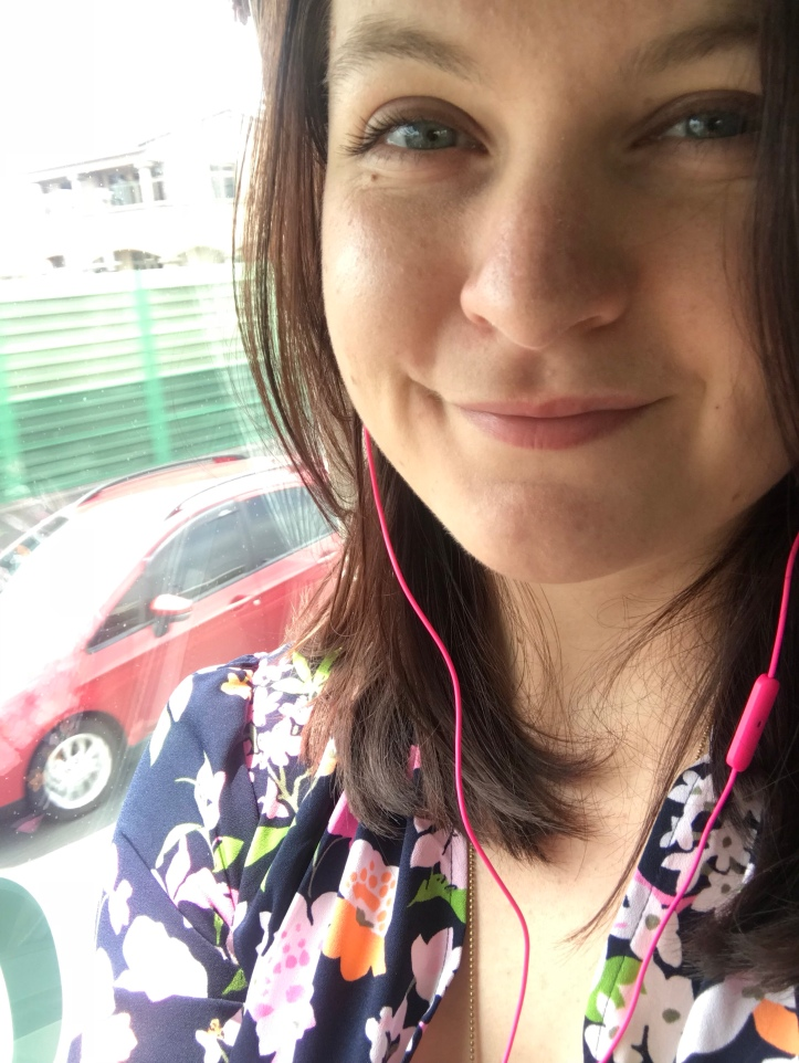 A bus selfie. One of FAR TOO MANY.