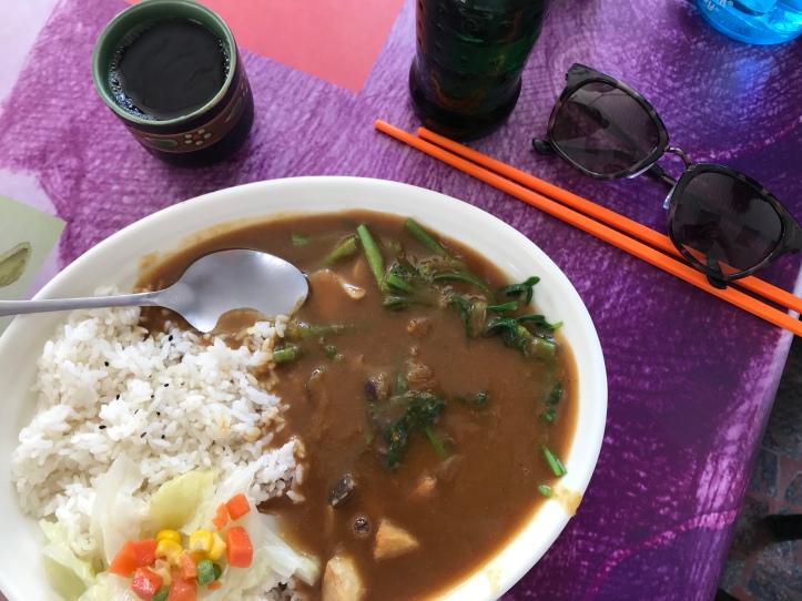 A tasty veggie curry.